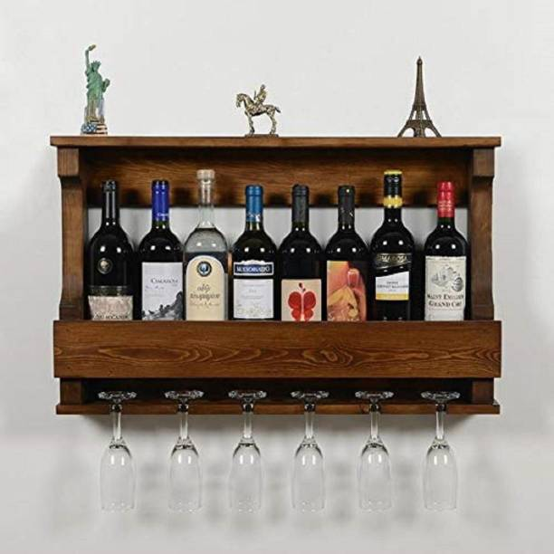Suncrown Furniture Solid Wood Bar Cabinet