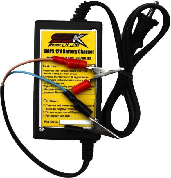 SSK and Sons SSK 12V Battery Charger 3 ft Battery Jumper Starter