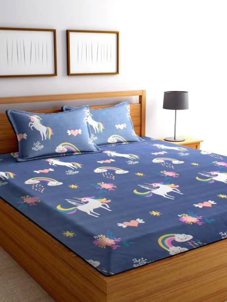 Home Elite 200 TC Microfiber Double Cartoon Bedsheet