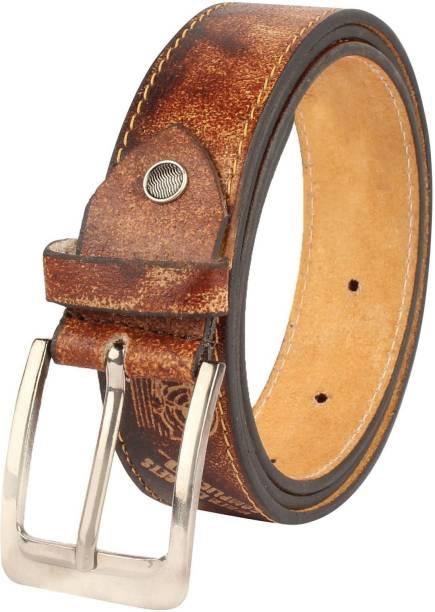 modix Boys Casual Tan Genuine Leather Belt
