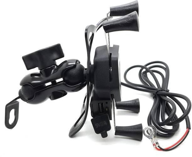 ZeeKart Latest Mobile Holder for Motorbike/Scooty | Rear Mirror Mount Stand Bike Mobile Holder