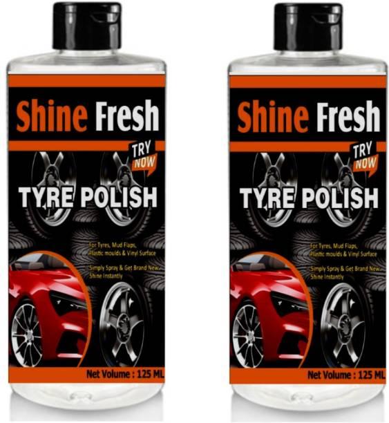 Shine Fresh Liquid Car Polish for Tyres, Leather, Dashboard