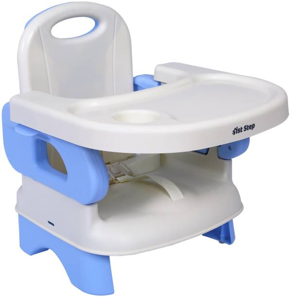1st Step 2 in 1 Booster Seat Cum Feeding Chair With 2 Level Height Adjustment And 5 Point Safety Harness