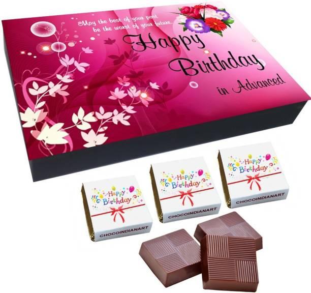 CHOCOINDIANART Beautiful, Happy BirthDay, 12 Chocolate GiftS Box, Truffles