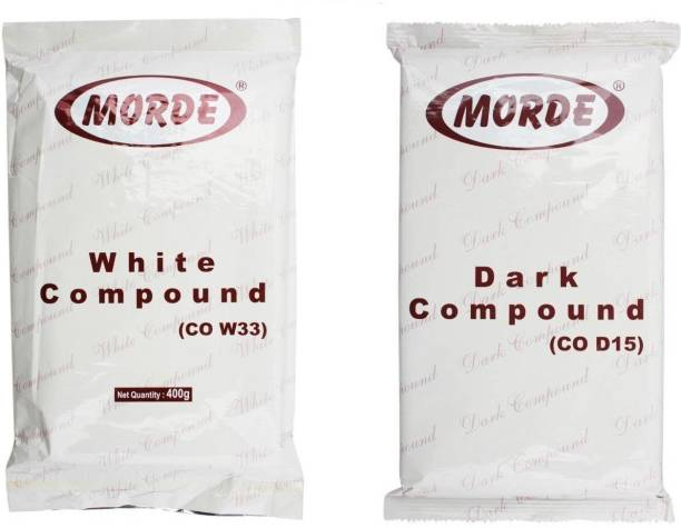 Morde White and Dark Chocolate Compound, 400gm - Combo Pack of 2 Bars