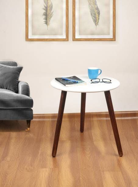 Amaze Shoppee Round Shape End Table for Living Room | Three Legs Bedside Table | Sofa Side Table | Coffee Table | Office Table | Tea Table | Center Table Engineered Wood Coffee Table