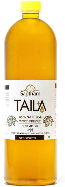 Saptham Taila 100% Wood Pressed / Cold Pressed Gingelly Oil / Sesame Oil PET Bottle