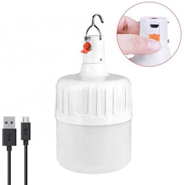 WOZIT USB Charging Waterproof LED Rechargeable Inverter Bulb With 4000 mAh Battery And Portable Hook, Bulbs For Home, Led Bulb, Led Lights, Charging Bulb, Emergency Light For Home (White) Bulb Emergency Light