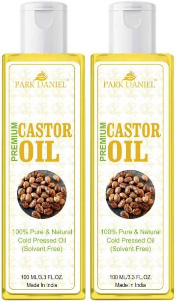 PARK DANIEL Premium Cold Pressed Castor Oil Combo Set of 2 No.100 ml Bottles Hair Oil