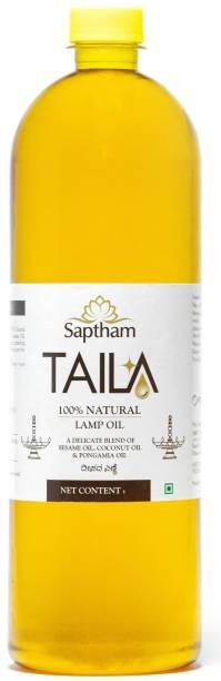 Saptham Taila 100% Natural Lamp Oil - Made of 3 Oils (500 ml)