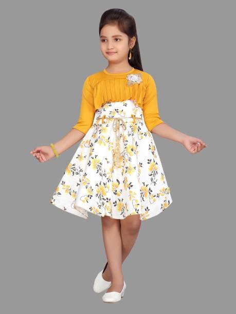 Aarika Indi Girls Midi/Knee Length Party Dress