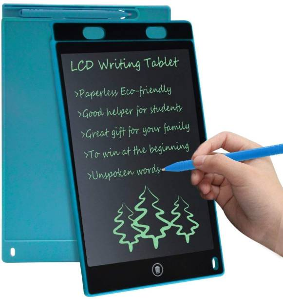 LUKECAGE Fresh Arrival Writing Pad For Kids Re-Writing Paperless Electronic Digital Slate E Writer Pads Notepad Board for Writing And Learning LCD Writing Tablet Gifts For Kids Girls / Boys (Red, Black, Blue, Green, Orange)