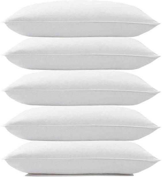 KALPANA INDUSTRIES Cotton Solid Sleeping Pillow Microfibre Solid Sleeping Pillow Pack of 5