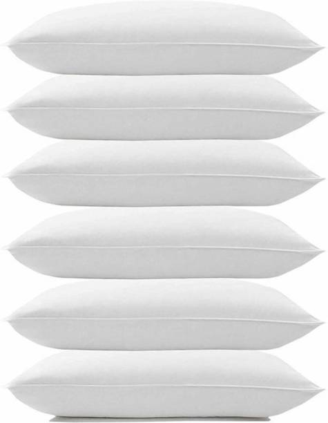 KALPANA INDUSTRIES Luxury white soft pillow Microfibre Solid Sleeping Pillow Pack of 6