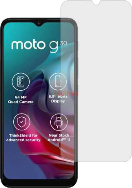 TELTREK Tempered Glass Guard for MOTO G30 (ShatterProof, Matte Finish)
