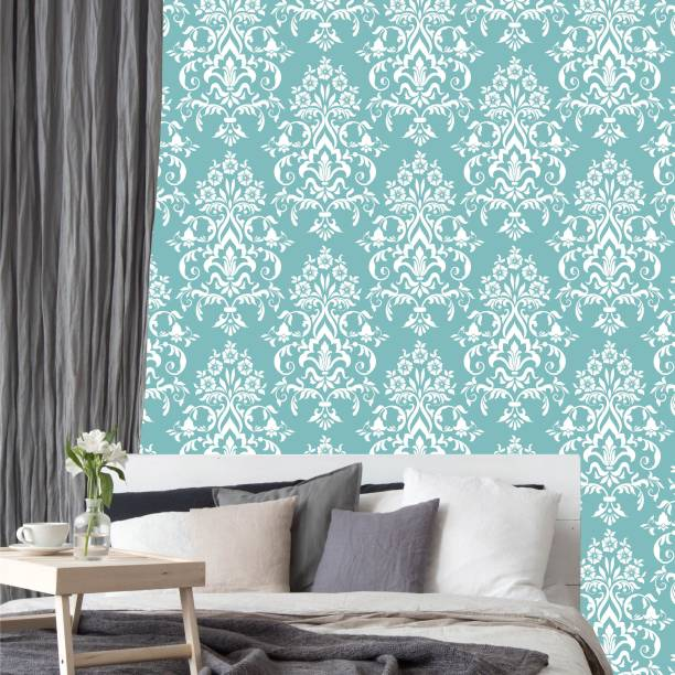ASIAN PAINTS Large EzyCR8 P&S Ornate Timeless Damask - Turquoise Sticker