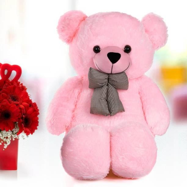 Mrbear 3 Feet Very Cute Long Soft Hugable American Style Teddy Bear Best For Gift - 90 cm (Pink) 36 inch ssa - 90.01 cm (Pink)  - 92 cm