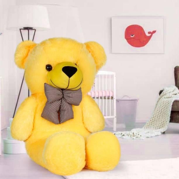 Mrbear 3 Feet Very Cute Long Soft Hug able American Style Stuffed Toys Bear Best For Gift - 91.4 cm (Yellow) 36 inch - 91.4 cm (Yellow)  - 91.4 cm