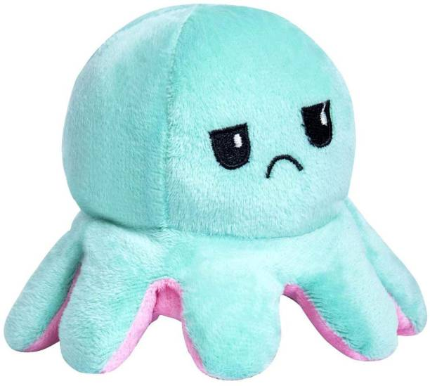 Regallo Premium Quality Super Soft Reversible Mini Octopus (Happy And Angry Face)  - 170 mm