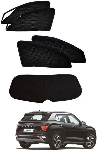 AuTO ADDiCT Side Window, Rear Window Sun Shade For Hyundai Creta