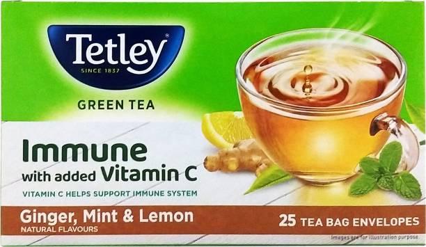 tetley Lemon, Ginger, Mint Green Tea Bags Box