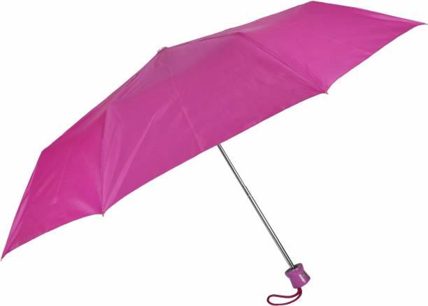 """Fendo Aura 3 Fold Hand Open 21"""" Women Silver Coated Umbrella Umbrella"""