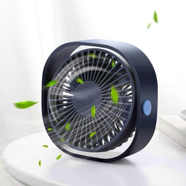 Dekmy 3 Speed Personal USB Desk fan, Table Quiet Fan (Pack of 1 Fan) USB Desk fan USB Fan