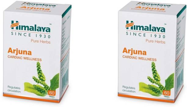 HIMALAYA Wellness Pure Herbs Arjuna Cardiac Wellness 60 Tablets (Pack of 2)
