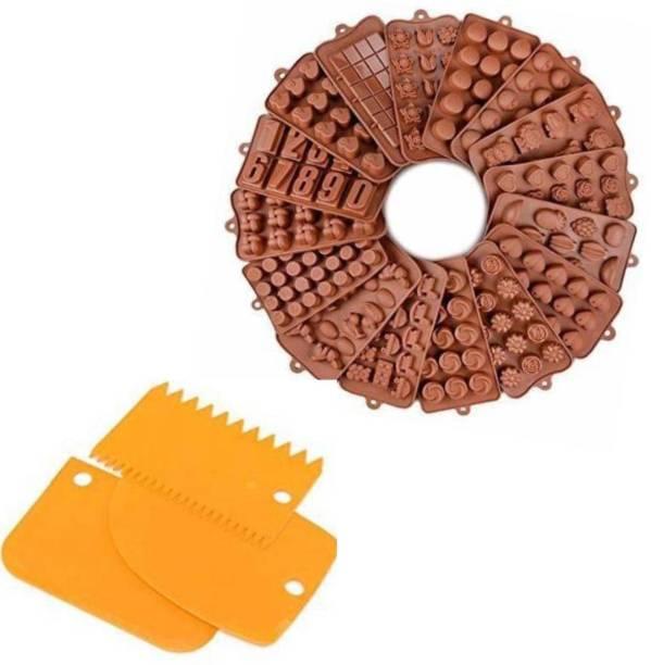 Ezzideals Choclate mould multi & Scrapper Baking Comb