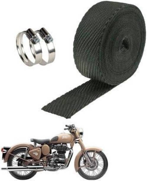 AIRSKY Silencer Wrap With Clamp Bike Exhaust Heat Shield For Royal Enfield Classic 350 Bike Exhaust Heat Shield