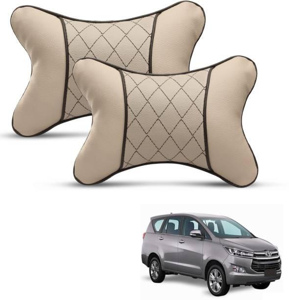 Mockhe Beige Leatherite Car Pillow Cushion for Toyota
