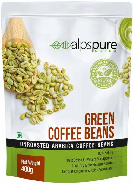 ALPSPURE Nutra Green Coffee Beans 100% Natural Unroasted Arabica Coffee Beans   Immunity Booster, Helps in Weight Management Coffee Beans