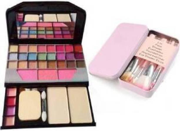 NKV'S Best Makeup Kit Combo of Eyeshadow Makeup kit 7Pc black brush