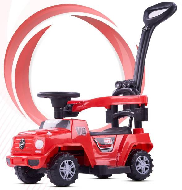 GoodLuck Baybee Kids Power Wheel Ride On Jeep Push Car for Toddlers Baby Jeep Toy Kids Rider & Baby Jeep Toys | Kids Suitable for Boys & Girls(1-3 Years) -Red Rideons & Wagons Non Battery Operated Ride On