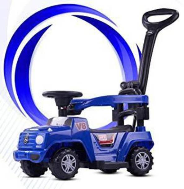 GoodLuck Baybee Kids Power Wheel Ride On Jeep Push Car for Toddlers Baby Jeep Toy Kids Rider & Baby Jeep Toys | Kids Suitable for Boys & Girls(1-3 Years) -Blue Jeep Non Battery Operated Ride On