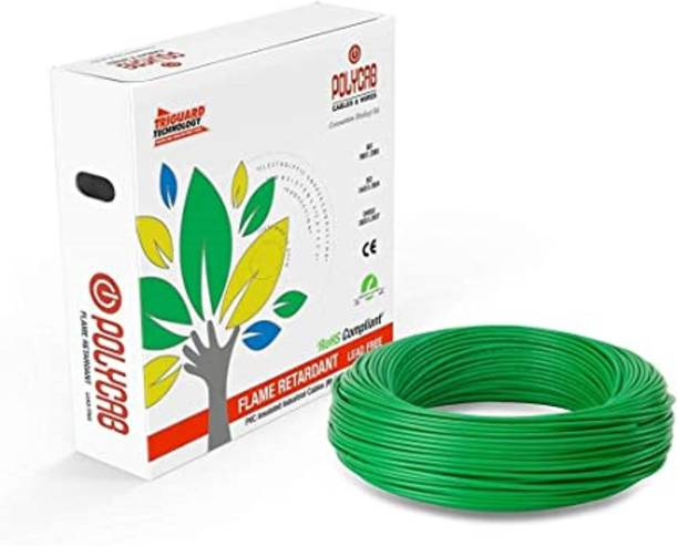 polycab PVC Insulated 1 sq/mm Green 90 m Wire