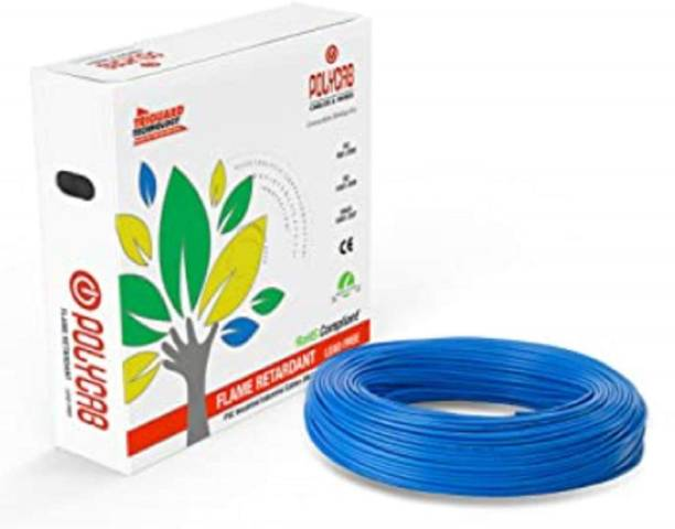 polycab PVC Insulated 1 sq/mm Blue 90 m Wire