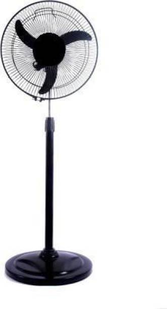 olles 3 Speed Adjust || Mini Pedestal Fan || 100 % Copper Motor || 1 Year Warranty || || Model-Metal Body (PL-2) 220 mm Energy Saving 3 Blade Pedestal Fan