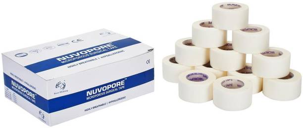 NUVO MEDSURG Nuvopore Microporous Surgical Tape - 25 Mm X 5.1 Mtr (12 Rolls) First Aid Tape