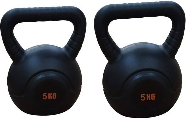 FIT & FITNESS Kettlebell for Strength/Fitness/Kettle Bell for Home Gym 5KG Black Kettlebell Black Kettlebell