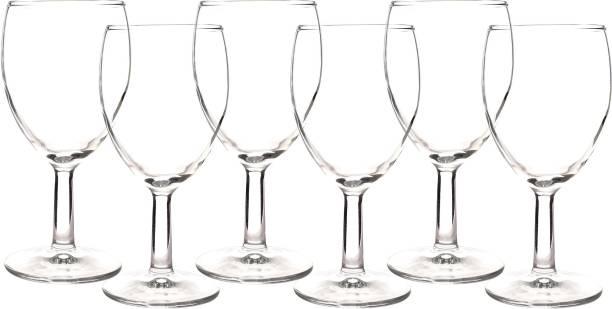 Swastik Housewares (Pack of 6) Deli Imported Crystal Wine/Juice Glass Set of 6 pcs Glass Set