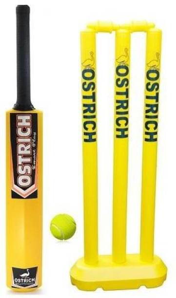 Ostrich Hard Plastic Cricket Kit Combo For Age Group 8 Years Juniors Cricket Kit