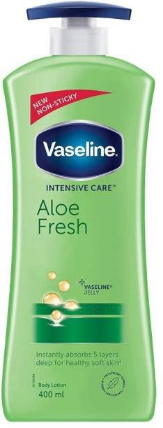 Vaseline Aloe Fresh Instantly Absorbs 5 Layers Deep For Healthy Soft Skin Body Lotion Pack of 1