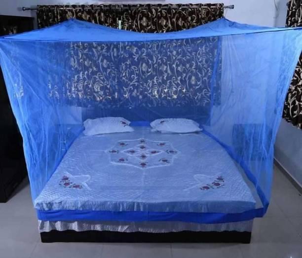 VS Enterprises Polyester Adults blue mosquitonet 7x7 Mosquito Net