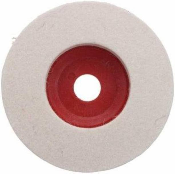 Qutbi tools 4 Pcs Wool Felt Buffing Pad Wheel Disc for Polishing Stainless Steel Metal Marble Glass Ceramic, 4 Inch Angle Grinder Abrasive Rotary Tool Accessory Buffing Wheel 4 Pcs Metal Polisher Buffing wheel 4 pcs Metal Polisher