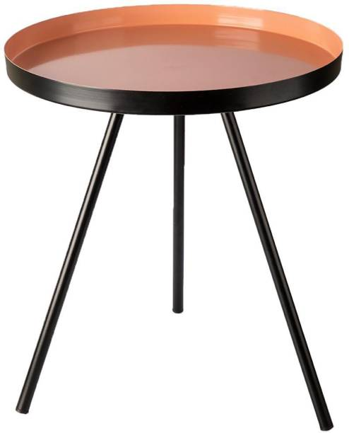 MARKET 99 VON CASA Round Side Table, Metal End Table, Nightstand, Small Table, Accent Table, Steel Side Table