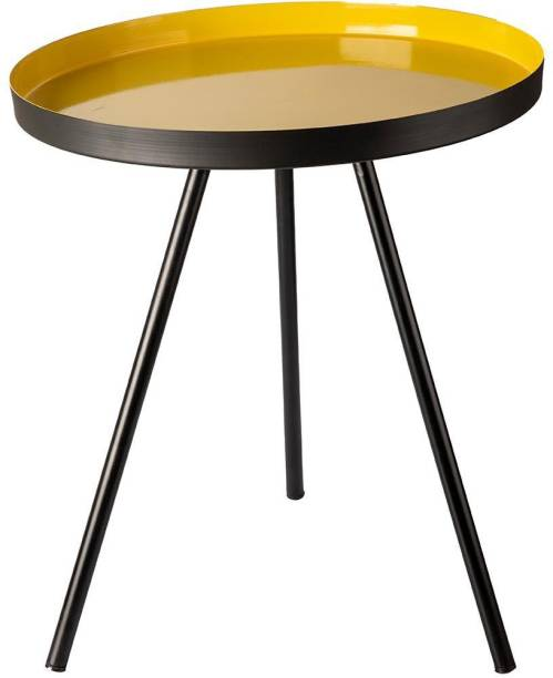 MARKET 99 VON CASA Round Side Table, Tripod Table, Nightstand, Small Table, Steel Side Table