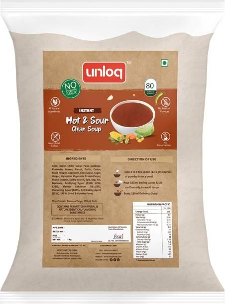 unloq Hot & Sour (No Onion Garlic) Instant Soup Healthy Mix Bulk Pack| Jain Hot & Sour Soup with freshest Natural Ingredients Easy to Prepare | Serves - 80 (1 Kg)