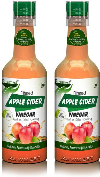 Rawmest Organic Apple Cider Vinegar, Filtered and Fermented to 5% Digestive property Vinegar
