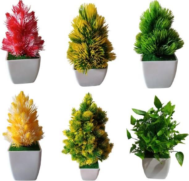 KAYKON Bonsai Wild Artificial Plant  with Pot